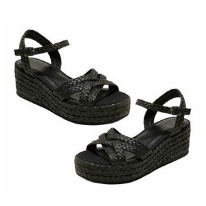 NWT A NEW DAY Black Espadrilles Sandals